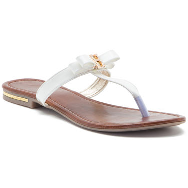 Aleta Synthetic Leather Womens Flats Alwf0316-White