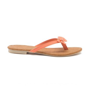 Aleta Synthetic Leather Womens Flats Alwf0416-Orange