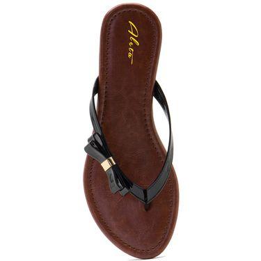 Aleta Synthetic Leather Womens Flats Alwf0516-Black