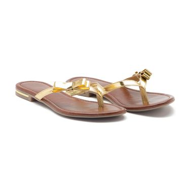 Aleta Synthetic Leather Womens Flats Alwf0516-Gold