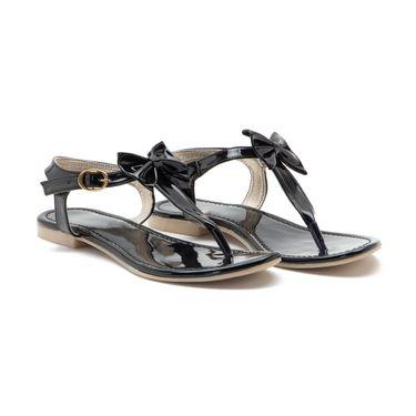 Aleta Synthetic Leather Womens Flats Alwf0916-Black