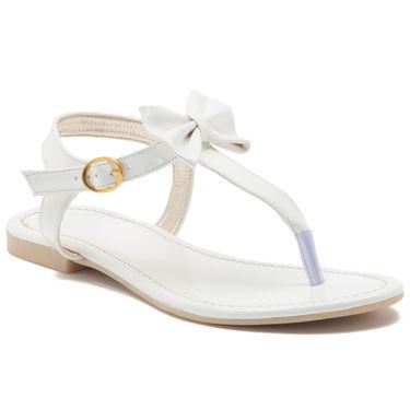 Aleta Synthetic Leather Womens Flats Alwf0916-White
