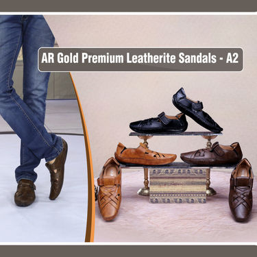 AR Gold Men's Leatherite Sandals (A2) - Pick Any 1