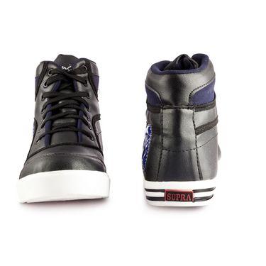 Kohinoor Footwears Faux Leather Casual Shoes AS0012_BlackBlue