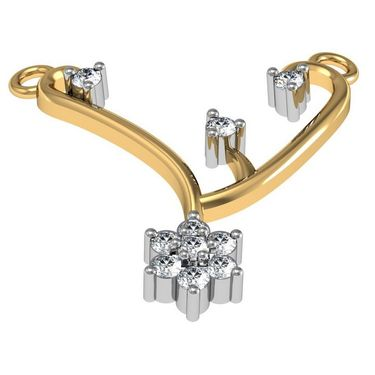 Avsar Real Gold & Swarovski Stone Gaytri Mangalsutra_Avm018yb