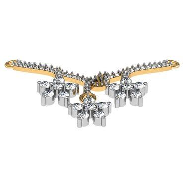 Avsar Real Gold & Swarovski Stone Aprna Mangalsutra_Avm070yb
