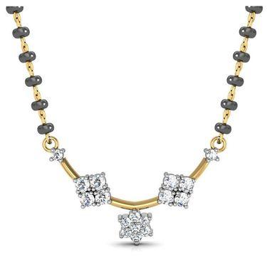 Avsar Real Gold & Swarovski Stone Jaipur Mangalsutra_Avm071yb