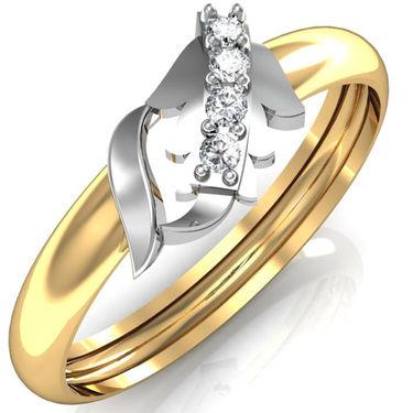 Avsar Real Gold & Swarovski Stone Kashish Ring_A054yb
