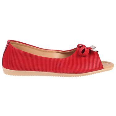 Azores Womens Red Ballerina -Azf_12R
