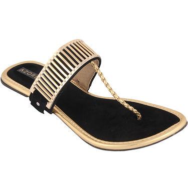Azores Womens Black Sandals -Azf_3B