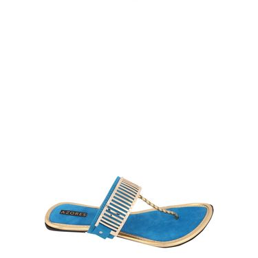 Azores Womens Blue Sandals -Azf_3Blu