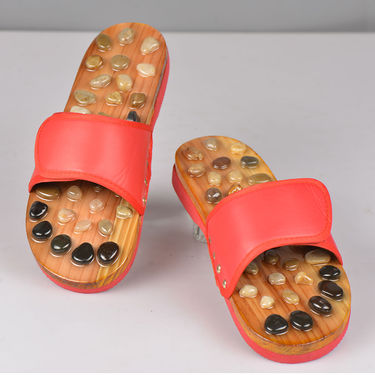 Acupressure Natural Stone Slipper with Magnetic Insole