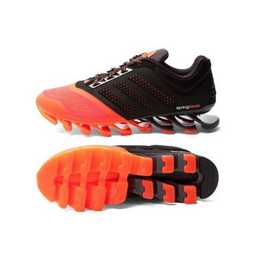 Adidas Breathable Nylon Mesh Sports Shoes_005 _Black & Orange