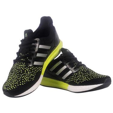 Adidas Mesh Black & Yellow Sports Shoes -osy11