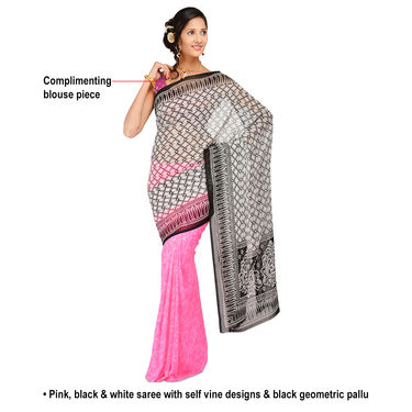 Adorable Collection of 7 Georgette Sarees (7G14)