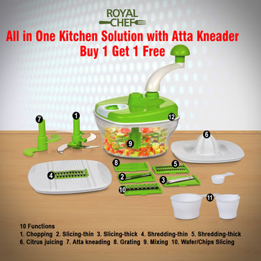 All in One Kitchen Solution with Atta Kneader - Buy 1 Get 1 Free