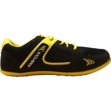 Mayor  Amaze Black, Yellow Shoes - 8