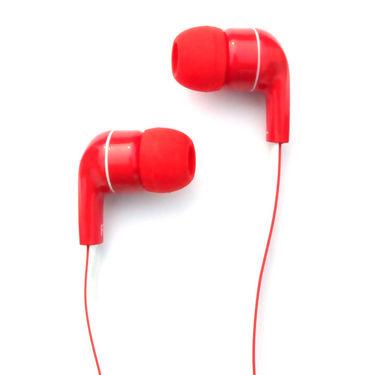 Amkette Trubeats Atom X10 In-Ear Headphones - Red