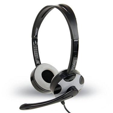 Amkette Truchat Technic Headphones - Black & Grey
