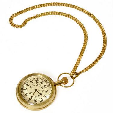 Antique Design Usable Real Brass Gandhi Watch 235
