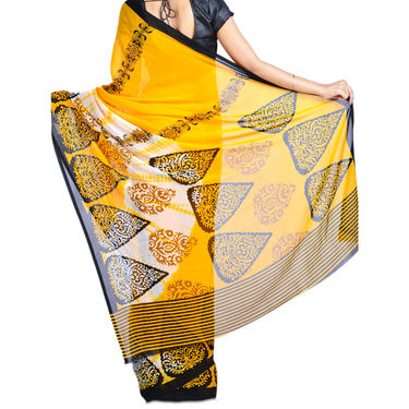 Anvi Collection of 7 Printed Georgette Sarees (7G21)