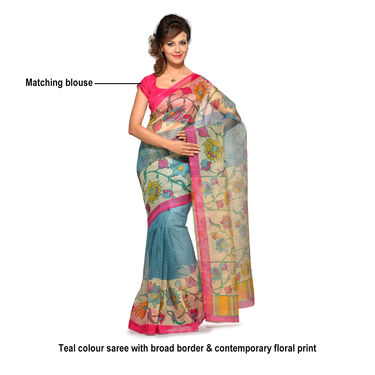 Arushi Collection of 7 Printed Kota Doria Sarees by Pakhi (7K10)