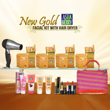 Astaberry New Gold Facial Kit with Hair Dryer