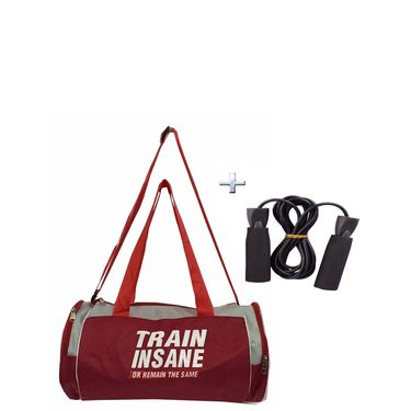 Combo of Protoner Gym Bag - Train Insane or Remain The Same With Skipping Rope