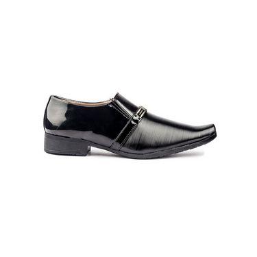 Kohinoor Footwears Faux Leather Formal Shoes BB06_Black