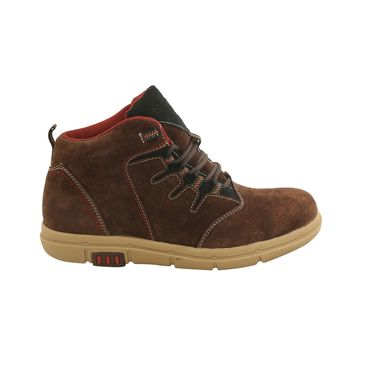 Suede Leather Brown  Boot -ntb01