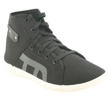Bacca Bucci Canvas  Black Casual Shoes -ntb13