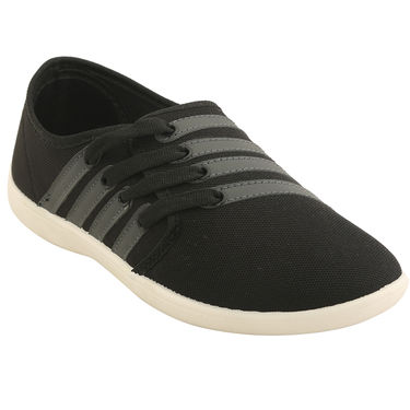 Bacca Bucci Canvas  Black Casual Shoes -ntb18