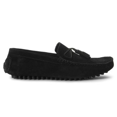 Bacca Bucci Suede Leather Black Loafers -Bbmc4061A