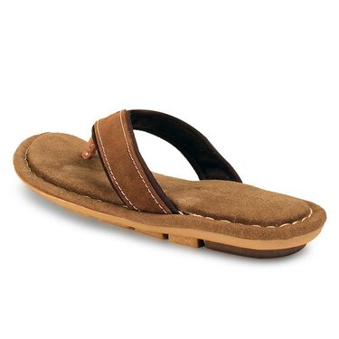 Bacca Bucci Suede Leather Brown Slippers -Bbmd5039C