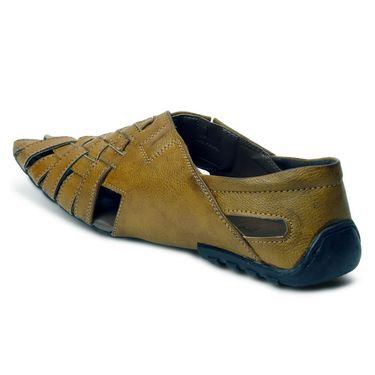 Bacca Bucci Leather Tan Sandals -Bbme6043D