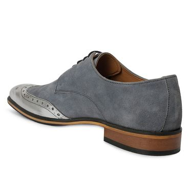 Bacca Bucci Suede Leather Sky Blue Formal Shoes -Bbmf7026O