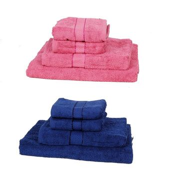 Set of 8 100% Soft Cotton Family Towel Set - BDTOWEL 1-2