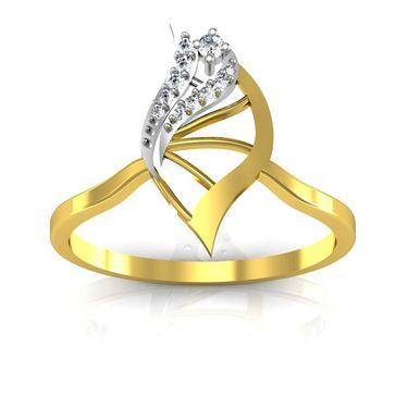 Avsar Real Gold & Swarovski Stone Kajal Ring_B036yb