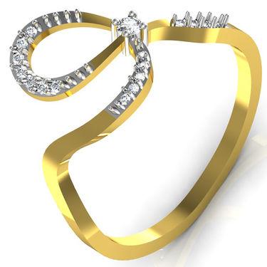 Avsar Real Gold & Swarovski Stone Anjalee Rings_B037yb