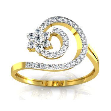 Avsar Real Gold & Swarovski Stone Ashwini Ring_B045yb