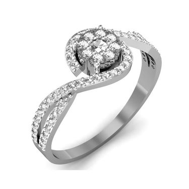 Avsar Real Gold & Swarovski Stone Pranali Ring_B048wb