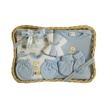 Montaly 9 Piece Baby Gift Set Blue