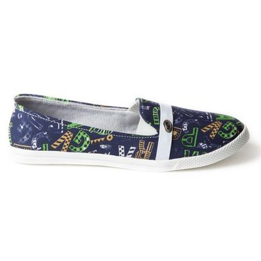 Branded Canvas Womens Sneakers BLS-004-BL.GR