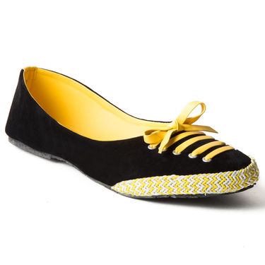 Branded Suede Leather Ballerinas BLS-005-YL