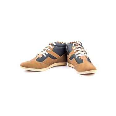 Kohinoor Footwears Canvas Casual Shoes BT0102_BrownBlue