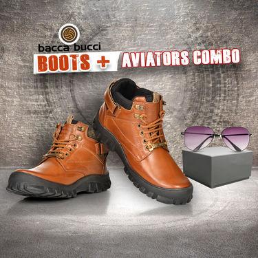 Bacca Bucci Boots + Aviators Combo