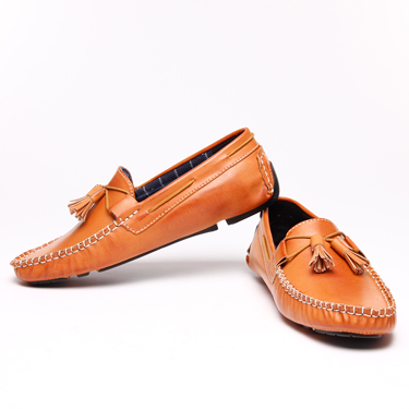 Bacca bucci Leather Loafers - Tan