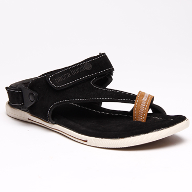 Bacca bucci Leather Sandals - Black-5557