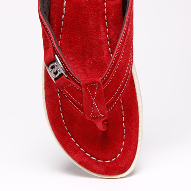 Bacca bucci Leather Slippers - Red