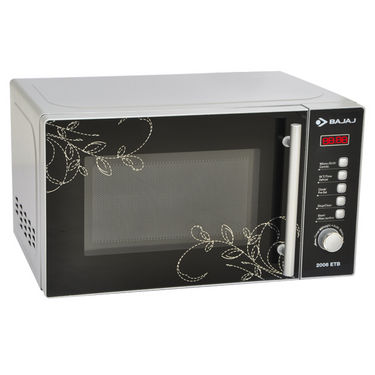 Bajaj (2006ETB) Modern Design 20Ltrs Microwave Oven with Digital Display, Preset Menu, Auto Defrost